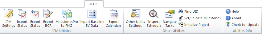 IPM Utilities in Project 2010